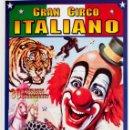 Carteles Espectáculos: GRAN CIRCO ITALIANO. Lote 56705411