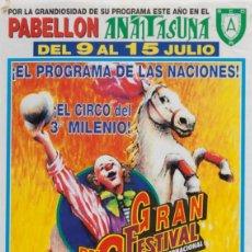 Carteles Espectáculos: GRAN FESTIVAL DEL CIRCO MUNDIAL. Lote 56705511