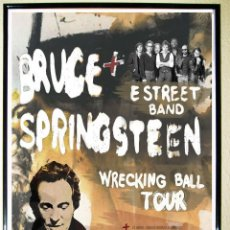 Affiches Spectacles: CARTEL CONCIERTO - BRUCE SPRINGSTEEN - AÑO 2013. WRECKING BALL TOUR . FORMATO GRANDE 70 X 50 CMS. Lote 221008785