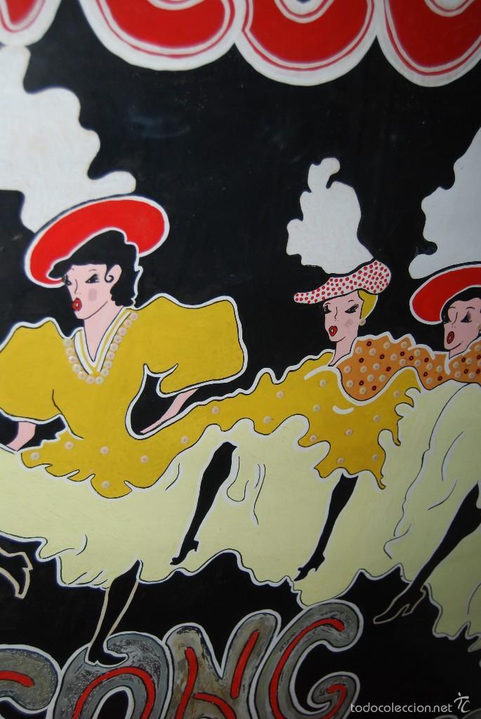 Carteles Espectáculos: DIBUJO ORIGINAL - CARTEL TEATRO O CABARET - CANCÁN - FESTIVAL - PINTADO A MANO - MEDIADOS SIGLO XX - Foto 5 - 57085714