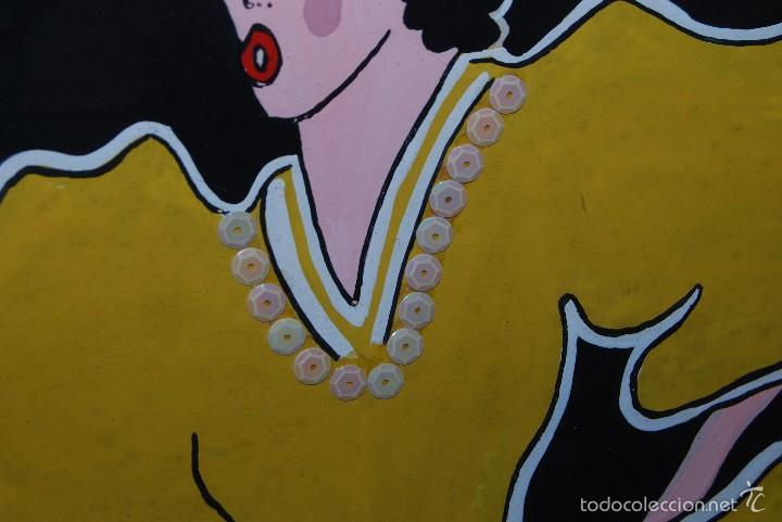 Carteles Espectáculos: DIBUJO ORIGINAL - CARTEL TEATRO O CABARET - CANCÁN - FESTIVAL - PINTADO A MANO - MEDIADOS SIGLO XX - Foto 8 - 57085714