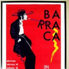 Carteles Espectáculos: CARTEL CARTEL PUBLICIDAD DISCOTECA BARRACA VALENCIA,. 1989. Lote 209300152
