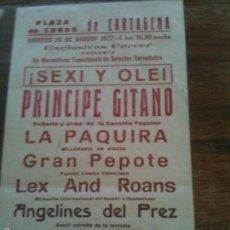 Carteles Espectáculos: PRINCIPE GITANO,1977. Lote 57388099