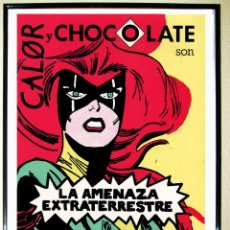 Carteles Espectáculos: CARTEL DE DISCOTECAS - CALOR Y CHOCOLATE - DE RUTA DEL BAKALAO. AÑO 1987.GRANDE. Lote 175715727
