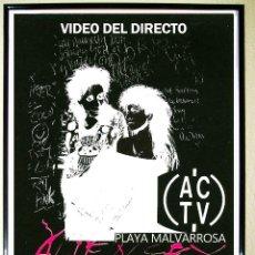 Carteles Espectáculos: CARTEL DE DISCOTECA - ACTV - AÑO1989 CON VIDEO DEL DIRECTO DE - ALIEN SEX FIEND -. Lote 59400821