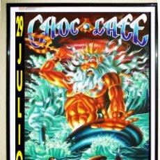 Carteles Espectáculos: CARTEL DE DISCOTECA - CHOCOLATE - LA NOCHE DE NEPTUNO 1990 70 X 49 CMS. Lote 74992138
