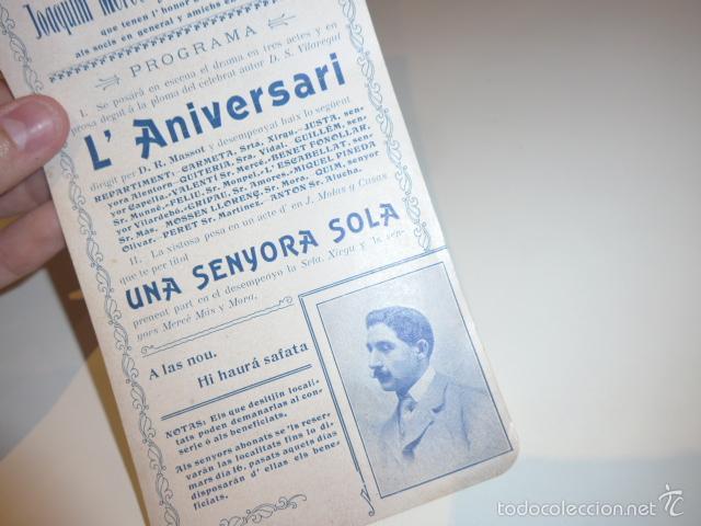 Carteles Espectáculos: Antiguo cartel de ateneu obrer de Barcelona de 1905, teatro. - Foto 3 - 58013648