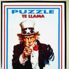 Carteles Espectáculos: CARTEL DE DISCOTECA - PUZZLE - TE LLAMA.. ALISTATE .. AÑOS 80 TAMAÑO 70X 49,5. Lote 86372211
