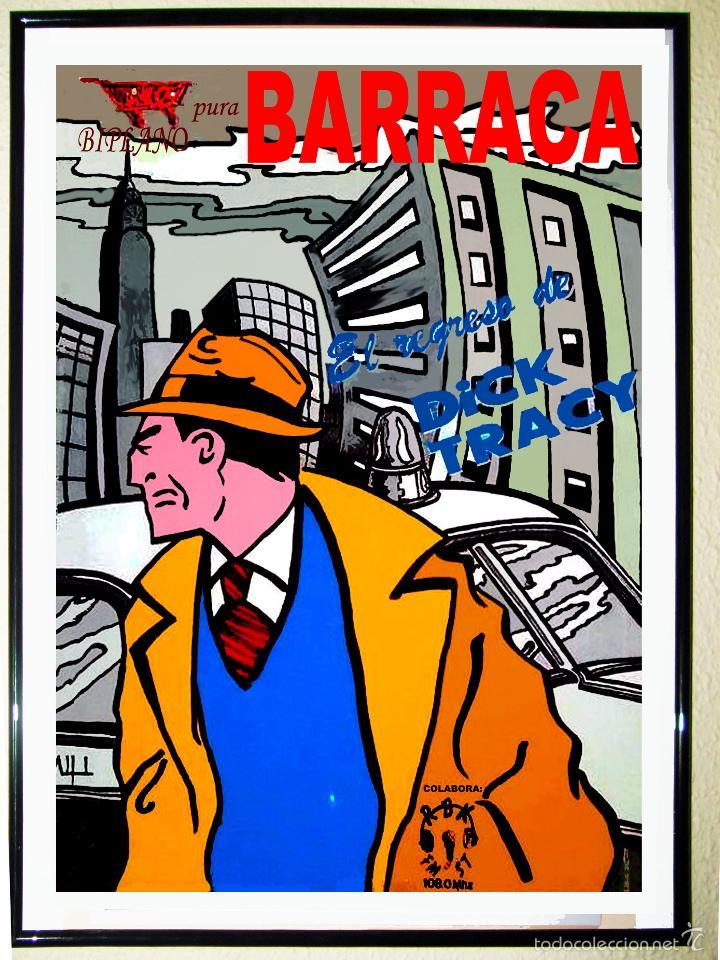 CARTEL DE DISCOTECA - BARRACA - AÑOS 90 . EL REGRESO DE DICK TRACY. TAMAÑO 70 X 49,5 CMS (Coleccionismo - Carteles Gran Formato - Carteles Circo, Magia y Espectáculos)