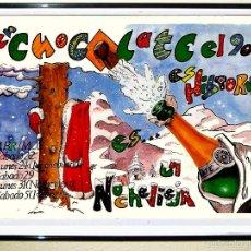Carteles Espectáculos: CARTEL DE DISCOTECA - CHOCOLATE - FIESTA DE NAVIDADES DEL AÑO 1990 TAMAÑO 70X49. Lote 59901210