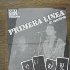 Carteles Espectáculos: GRUPO MUSICAL PRIMERA LÍNEA CARTEL . AÑOS 80. Lote 62253272