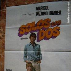 Carteles Espectáculos: SOLOS LOS DOS MARISOL PALOMO LINARES. Lote 63124988