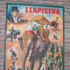 Carteles Espectáculos: CARTEL GRAN TAMAÑO LLAPISERA.C84. Lote 63134412