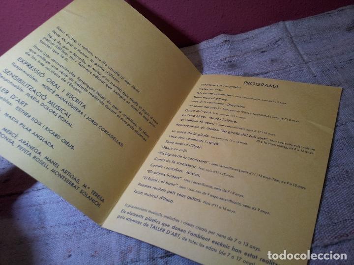 Carteles Espectáculos: DÍPTICO INVITACION PROGRAMA ITACA LARC PALAU DE LA MUSICA 1972---TEATRO AMATER..MERCE ARANEGA - Foto 2 - 64544615