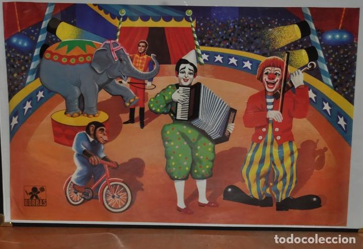 CARTEL - POSTER ORIGINAL DE LOS AÑOS 60 DE JUGUETES BORRAS. MATARO. JUGUETE (Coleccionismo - Carteles Gran Formato - Carteles Circo, Magia y Espectáculos)
