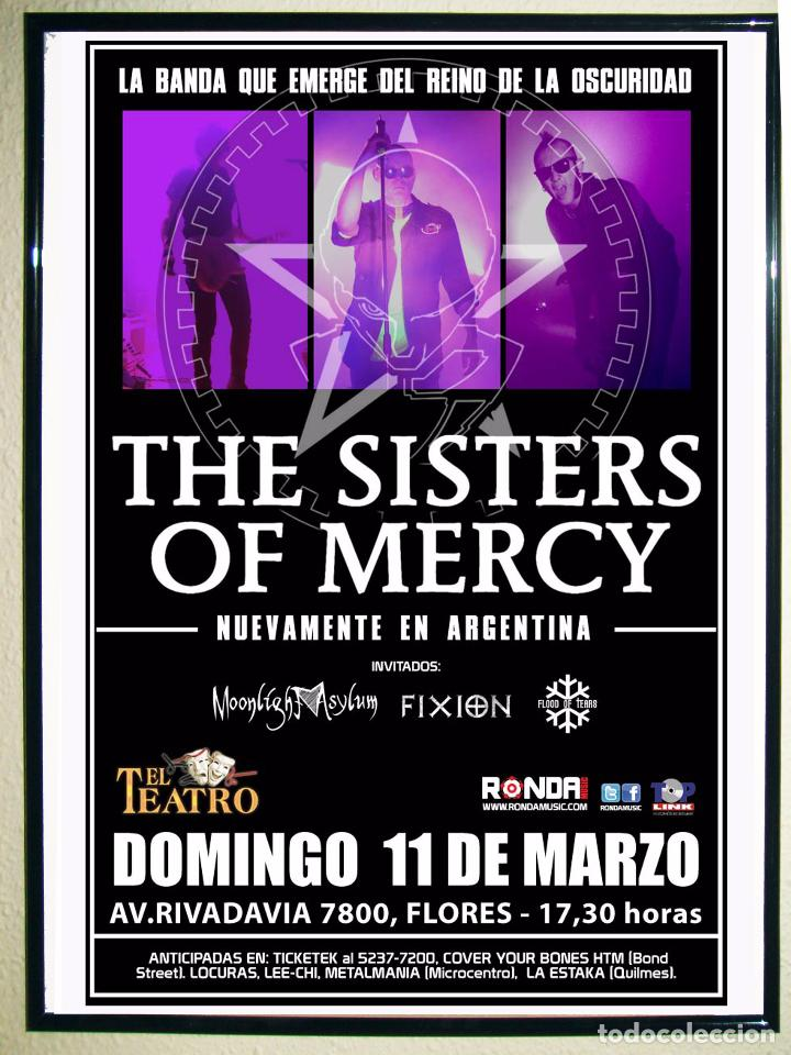 CARTEL DE CONCIERTO DE - SISTER OF MERCY - EN ARGENTINA 2011 TAMAÑO 65X43CMS (Coleccionismo - Carteles Gran Formato - Carteles Circo, Magia y Espectáculos)