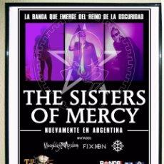 Carteles Espectáculos: CARTEL DE CONCIERTO DE - SISTER OF MERCY - EN ARGENTINA 2011 TAMAÑO 65X43CMS. Lote 67615261