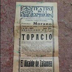 Carteles Espectáculos: ANTIGUO CARTEL DE TEATRO DE LA EXPOSICION SEVILLA, FEBRERO 1930. COMPAÑIA FRANCISCO MORANO. Lote 68677577
