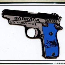 Carteles Espectáculos: CARTEL DE DISCOTECA - BARRACA - NUNCA DIGA NUNCA JAMAS . AÑOS 90 . TAMAÑO 49 X 70 CMS. Lote 195248655
