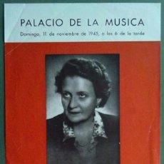 Carteles Espectáculos: ANDREA FORNELLS SOPRANO PALACIO DE LA MUSICA BARCELONA 1945 26 X 44 CM (APROX). Lote 70374977