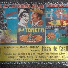 Affissi Spettacoli: CARTEL CIRCO ATLAS. Lote 71612339