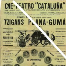 Carteles Espectáculos: CARTEL CINE TEATRO CATALUÑA. Lote 73078151