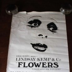 Affissi Spettacoli: POSTER. CARTEL. FLOWERS. TEATRE ROMEA. 1977. LINDSAY KEMP COMPANY. JEAN GENET. JORDI MORELL.. Lote 73907591