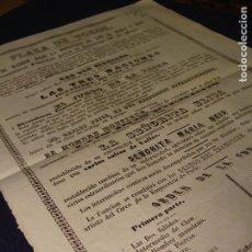 Carteles Espectáculos: RARO CARTEL DE CIRCO. 1857. CIRCO DE MADRID. CLOW, CABALLOS, SALTOS.... Lote 75237355