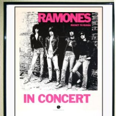 Affiches Spectacles: CARTEL DE PROMOCION DE LA GIRA DE - RAMONES - IN CONCERT 1977 ROCKET TO RUSSIA TAMAÑO 56 X 35. Lote 122829202