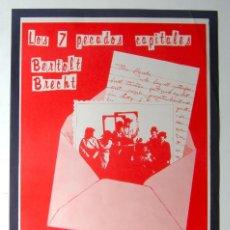 Carteles Espectáculos: CARTEL ORIGINAL TEATRO/1979 / KILIKILARIEN ANTZERKI-ESKOLA / LOS 7 PECADOS CAPITALES /BERTOLD BRETCH. Lote 80566178