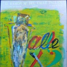 Carteles Espectáculos: CARTEL DE VALLE X 3 EN EL TEATRO LOPE DE VEGA, SEVILLA NOVIEMBRE 1989. Lote 47819261