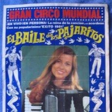 Carteles Espectáculos: CIRCO MUNDIAL. MARÍA JESÚS Y ACORDEÓN. BAILE PAJARITOS. 1981. Lote 82176116