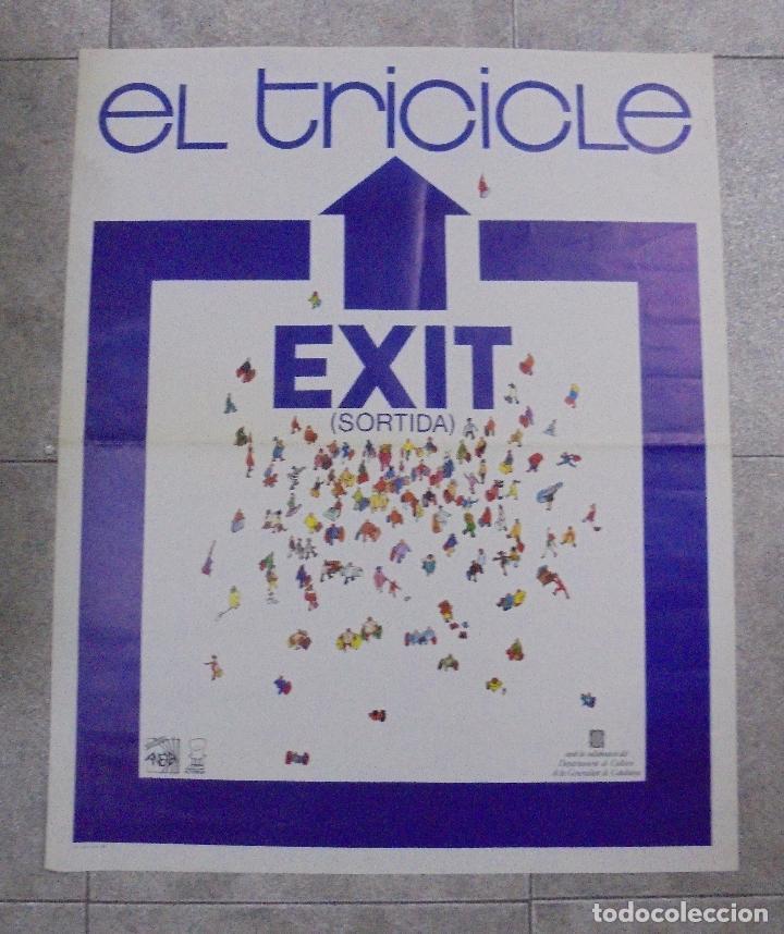 CARTEL. EL TRICICLE. EXIT. SORTIDA. 1984. 79 X 64 CM (Coleccionismo - Carteles Gran Formato - Carteles Circo, Magia y Espectáculos)
