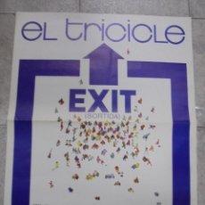 Carteles Espectáculos: CARTEL. EL TRICICLE. EXIT. SORTIDA. 1984. 79 X 64 CM. Lote 82261080