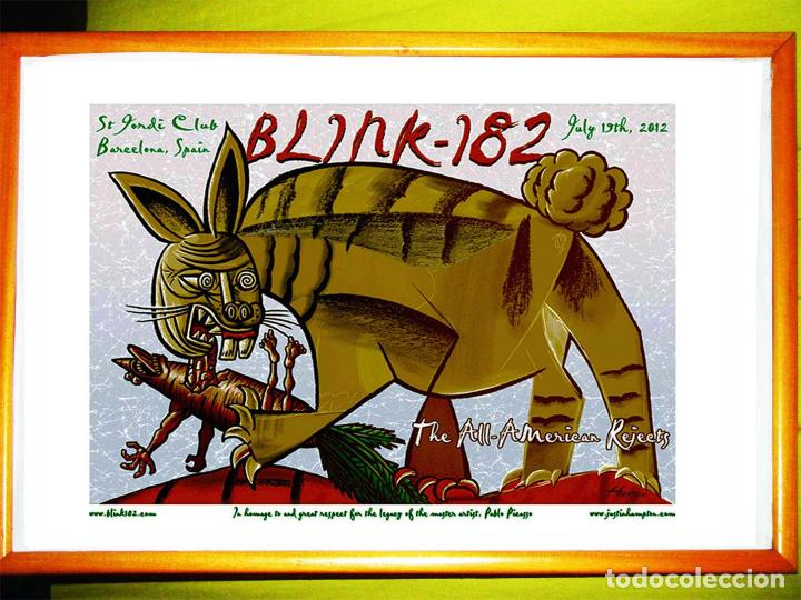 CARTEL CONCIERTO DE - BLINK182 - DE BARCELONA 2012, EN HOMENAJE A PABLO PICASSO . TAMAÑO 67 X 52 CMS (Coleccionismo - Carteles Gran Formato - Carteles Circo, Magia y Espectáculos)