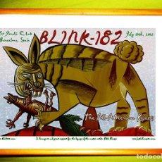 Carteles Espectáculos: CARTEL CONCIERTO DE - BLINK182 - DE BARCELONA 2012, EN HOMENAJE A PABLO PICASSO . TAMAÑO 67 X 52 CMS. Lote 86300992