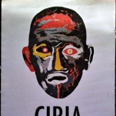 Carteles Espectáculos: CARTEL DE EXPOSICION OBRA DE - CIRIA - CONCEPTOS OPUESTOS EN IVAN 2001 2011- TAMAÑO 70X45. Lote 89556924
