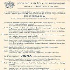 Carteles Espectáculos: CARTEL PROGRAMA CONGRESO INTERNACIONAL DE MAGIA VIENA 1958 SEI SOCIEDAD ESPAÑOLA DE ILUSIONISMO. Lote 91723985
