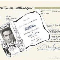Carteles Espectáculos: MAGIA CARTA Y POSTAL 1963 POCKET ILUSIONISTA SAGIHOB EMILIO BOHIGAS PALMA MALLORCA RUPE TARPEA ROMA. Lote 91859140