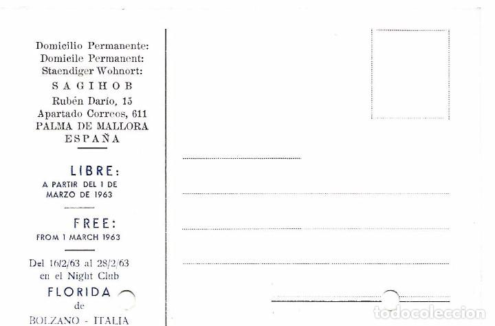 Carteles Espectáculos: MAGIA CARTA Y POSTAL 1963 POCKET ILUSIONISTA SAGIHOB EMILIO BOHIGAS PALMA MALLORCA RUPE TARPEA ROMA - Foto 3 - 91859140