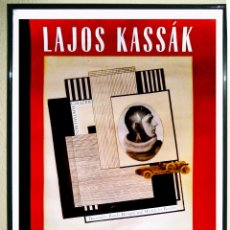 Affiches Spectacles: CARTEL EXPOSICION DE - LAJOS KASSÁK - VANGUARDIA HUNGARA EN I.V.A.M. VALENCIA 1993 TAMAÑO 70X50. Lote 93852140