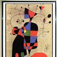 Carteles Espectáculos: CARTEL SERIGRAFIA DE OBRA DE - JOAN MIRO - IMPRESO EN NETHERLANDER EN 1984. 94 X 64. Lote 207353212