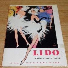 Carteles Espectáculos: PARIS - LIDO - CHAMPS-ELYSEES. PARIS - LE PLUS CELEBRE CABARET DU MONDE.AÑO 1959.. Lote 96634427