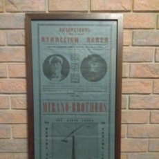 Affiches Spectacles: ANTIGUO CARTEL ATRACCIÓN AEREA MIRANO - BROTHERS . Lote 97328527
