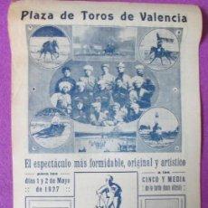 Affiches Spectacles: PLAZA TOROS VALENCIA, ESPECTACULO ARTISTICO , GIMNASTA ACROBATA CIRCO , COSACOS DJIGUITE CT2. Lote 97605503