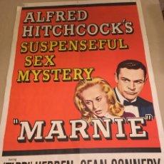 Carteles Espectáculos: CARTEL ORIGINAL DE CINE. MARNIE LA LADRONA. ALFRED HITCHCOCK. 1964. GRANDES DIMENSIONES. CINE. SEAN. Lote 99745302