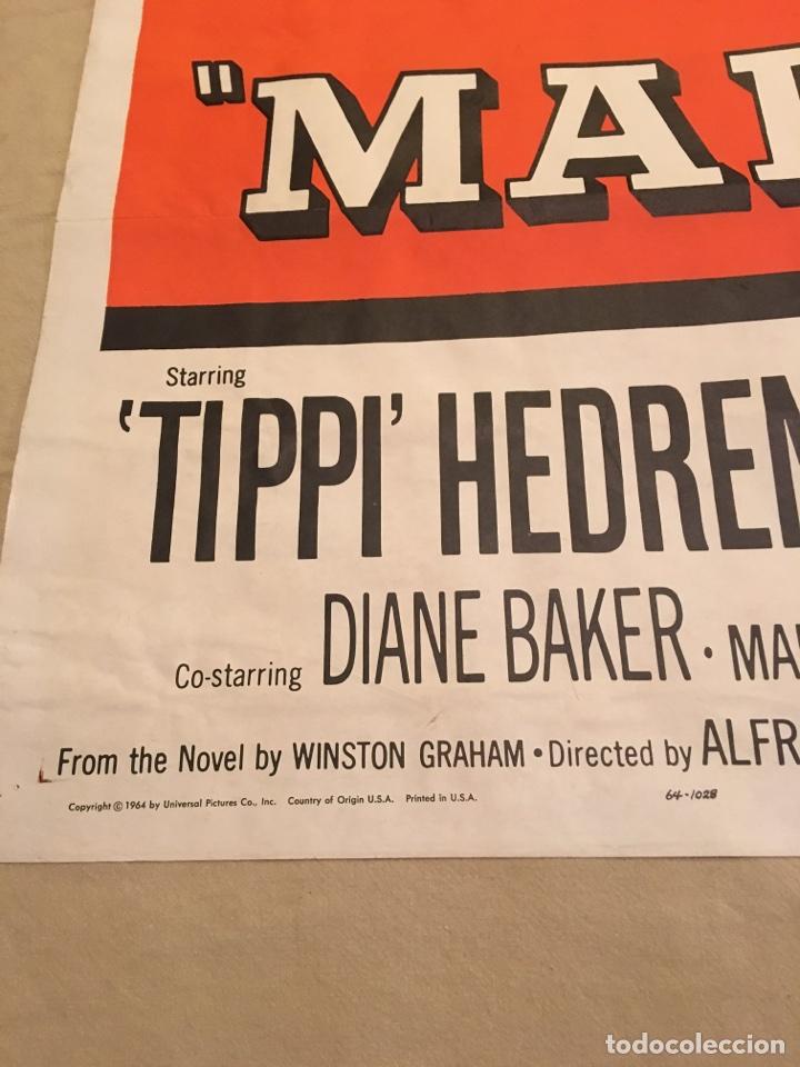 Carteles Espectáculos: Cartel original de cine. Marnie La ladrona. Alfred Hitchcock. 1964. Grandes dimensiones. Cine. Sean - Foto 5 - 99745302