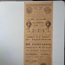 Carteles Espectáculos: PLAZA DE TOROS DE VALENCIA.27 DE ENERO DE 1907.C.-231A. Lote 100163879