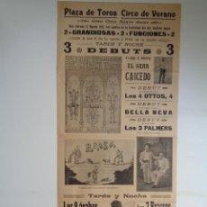 Carteles Espectáculos: PLAZA DE TOROS DE VALENCIA.1913 .CIRCO DE VERANO.-C229. Lote 100172363