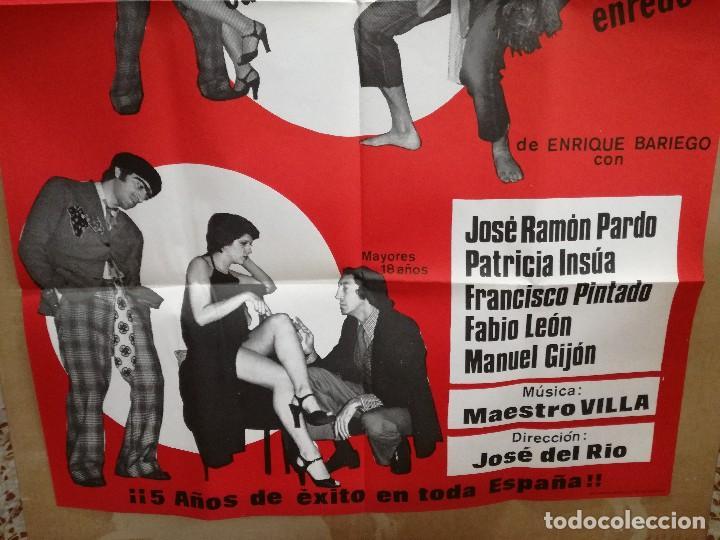 Carteles Espectáculos: CARTEL-EL KUNG-FU..SO.CAFE TEATRO FARRA MADRID.EROTICO-SEXY.RAMON PARDO,PATRICIA UNSUA.95X65 CM - Foto 2 - 101314599